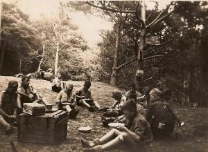 Onze verkenners op kamp in Dwingeloo in augustus 1948