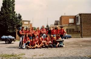 Groepsfoto zomerkamp Rsa en Stam in de Ardennen 1991