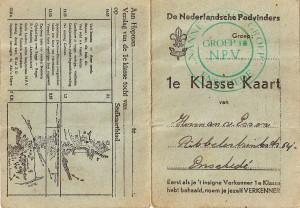 Eerste klasse kaart uit het begin van de jaren '50 van Herman van Essen