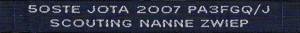 Naambandje 50e Jota 2007 - NZG