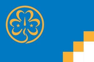 De vlag van de WAGGGS