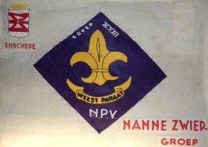 Onze tweede groepsvlag, die waarschijnlijk in de jaren '60 in gebruik is genomen