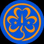 Het logo van de wereldvereniging voor meisjes (WAGGGS): het klaverblad