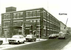 De kantine in de textielfabriek van Menko
