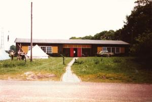 Ons oude clubgebouw tijdens het voorbereiden van Action '85