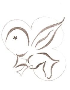 De potloodtekening van februari 2006, de basis van het groepslogo