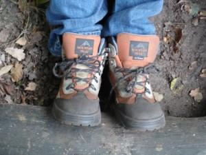 Goede en stevige schoenen zijn belangrijk