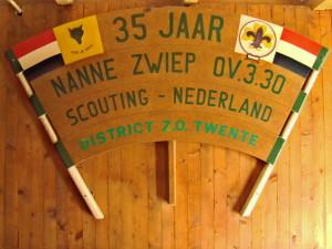 Wandbord 35 jaar Scouting Nanne Zwiep