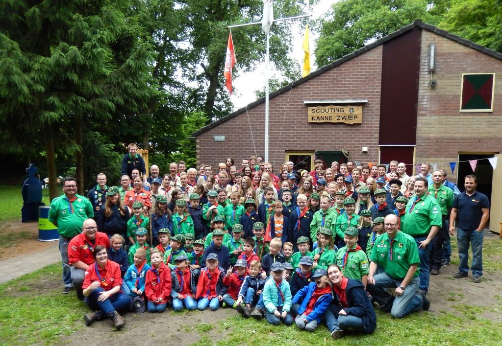 Groepsfoto 70 jaar Scouting Nanne Zwiep 2015