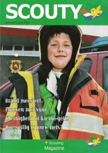 Het voorblad van een oude Scouty waarin welpen van onze Sionie Horde aan het woord komen