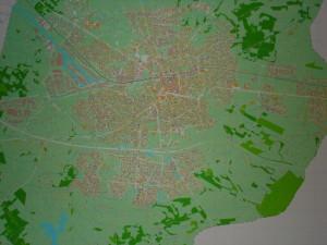 De kaart van Enschede