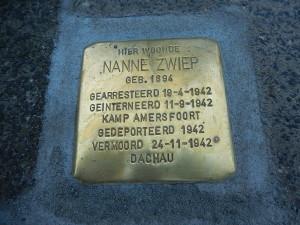 Stolperstein voor dominee Nanne Zwiep