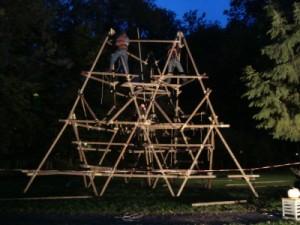 Jota toren in aanbouw